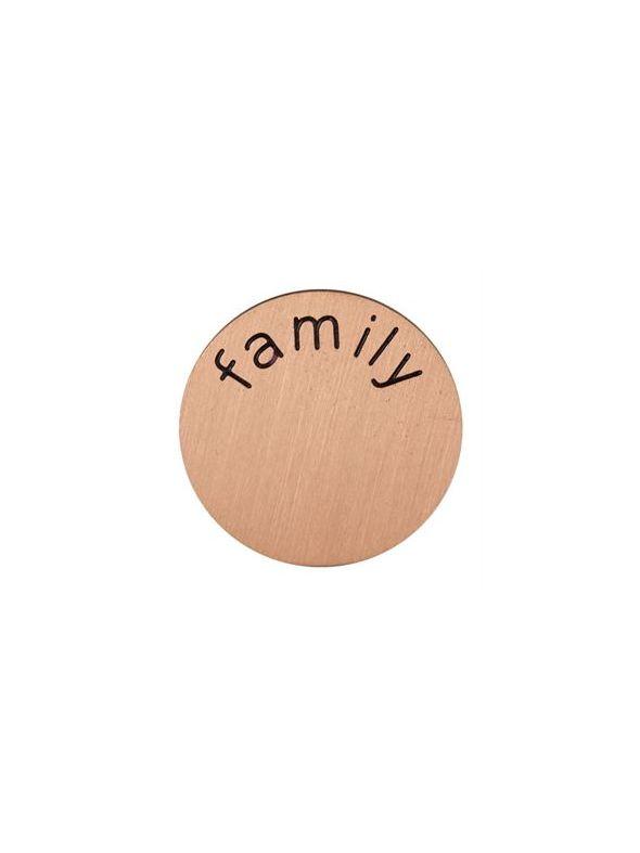 'Family' Mini Rose Gold Coin