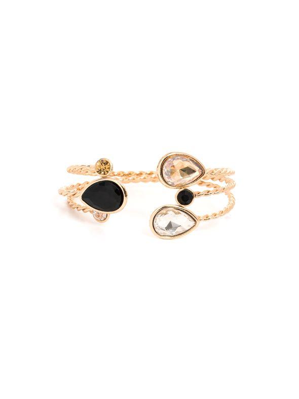 Gold 3 Tear Drop Bracelet